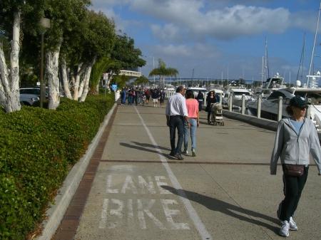 Blocked Bike Path